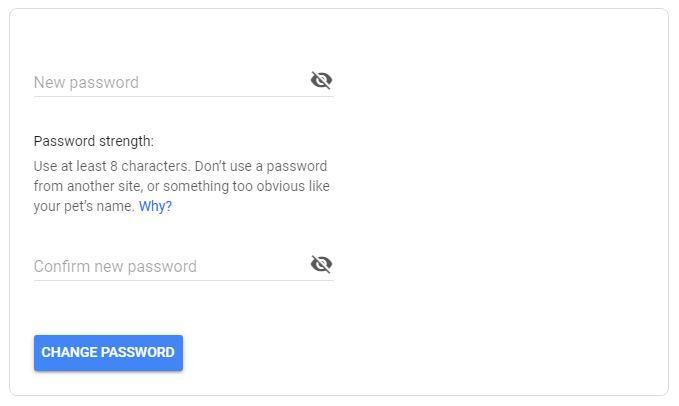 cara mengubah password gmail
